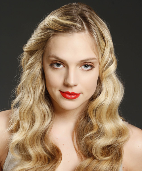 Long Wavy Casual Hairstyle - Medium Blonde Hair Color