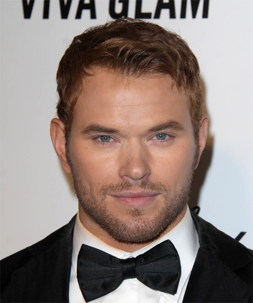 Kellan Lutz Short Straight Hairstyle - Medium Brunette (Auburn)