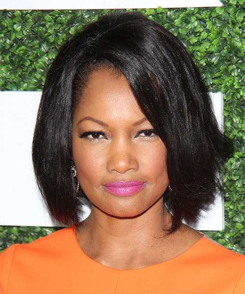 Garcelle Beauvais Nilon Medium Straight Emo Hairstyle - Black