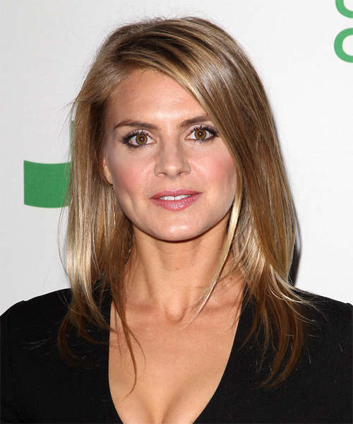 Eliza Coupe Long Straight Hairstyle - Light Brunette (Caramel)