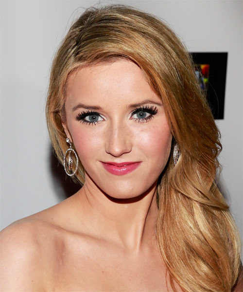 Sloane Avery Long Straight Formal Hairstyle - Dark Blonde (Copper) Hair Color