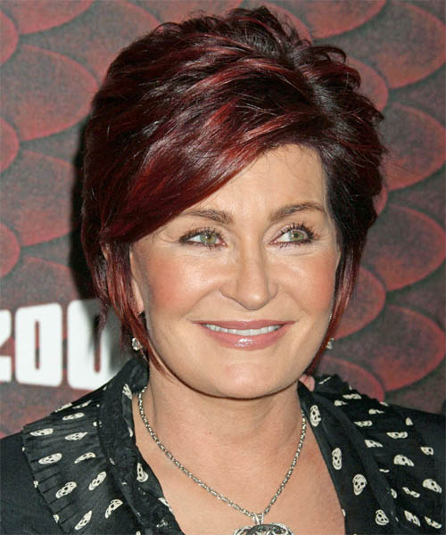Sharon Osbourne Short Straight Formal Hairstyle