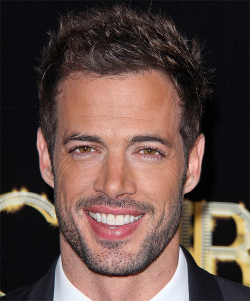 William Levy Short Straight Hairstyle - Medium Brunette (Chocolate)