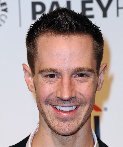 Jason Dohring Short Straight Hairstyle - Dark Brunette