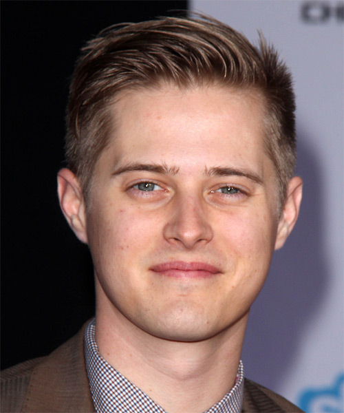 Lucas Grabeel Short Straight Hairstyle - Light Brunette (Chestnut)