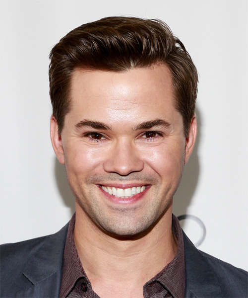 Andrew Rannells Short Straight Hairstyle (Chocolate)