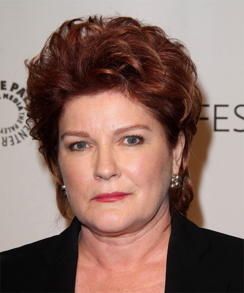 Kate Mulgrew Short Straight Formal Hairstyle - Medium Red (Burgundy) Hair Color