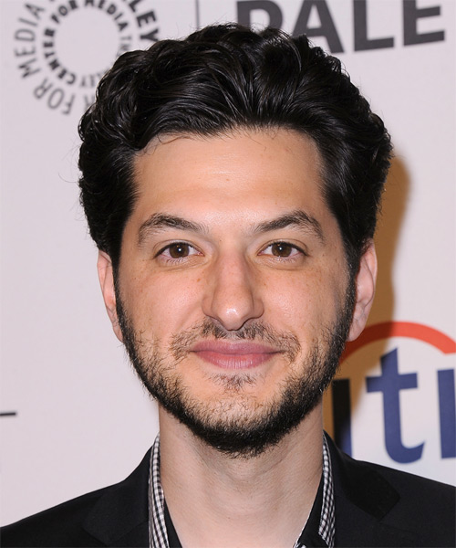 Ben Schwartz Short Wavy Hairstyle - Black