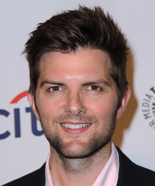 Adam Scott Short Straight Casual Hairstyle - Dark Brunette (Mocha) Hair Color