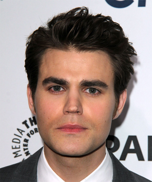 Paul Wesley Short Straight Hairstyle - Dark Brunette (Ash)