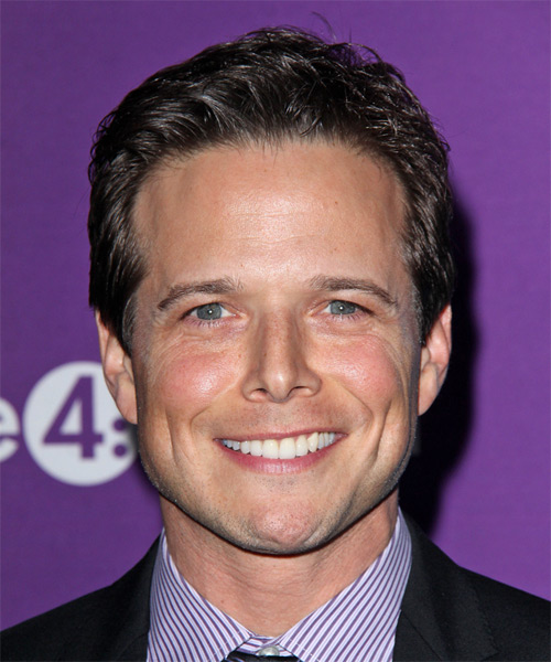 Scott Wolf Short Straight Formal Hairstyle - Dark Brunette Hair Color