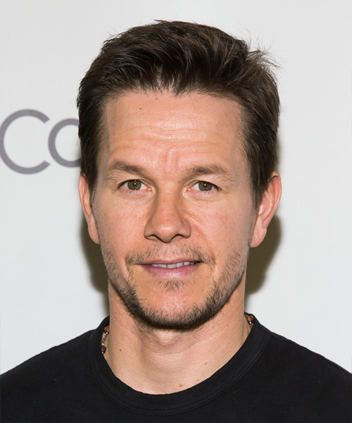 Mark Wahlberg Short Straight Hairstyle - Medium Brunette