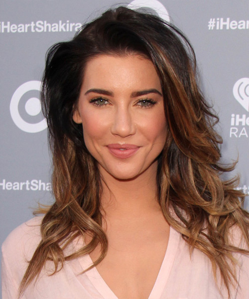 Jacqueline MacInnes Wood Long Straight Casual Hairstyle - Dark Brunette Hair Color