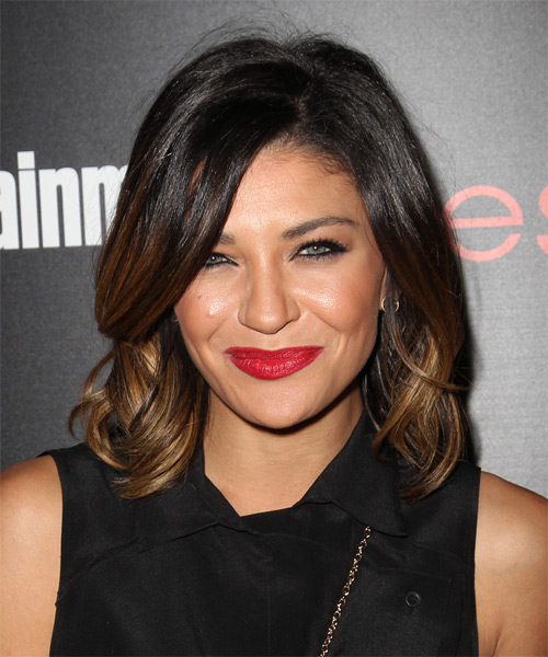 Jessica Szohr Medium Straight Hairstyle - Dark Brunette