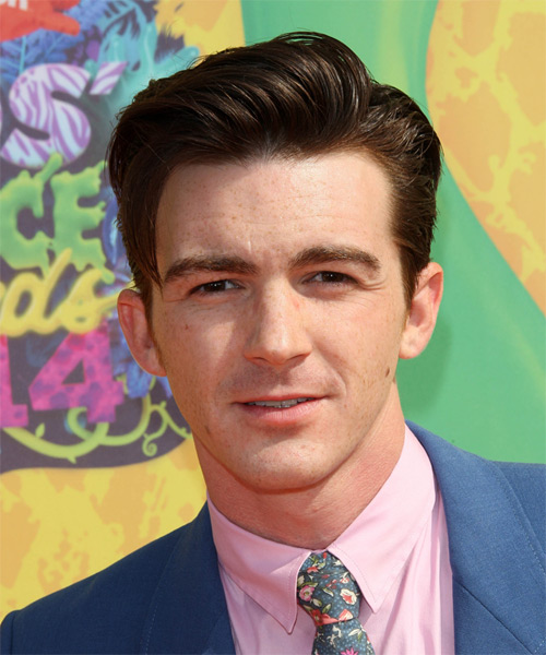 Drake Bell Short Straight Formal Hairstyle - Dark Brunette Hair Color