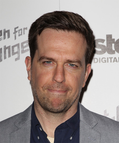 Ed Helms Short Straight Casual Hairstyle - Dark Brunette Hair Color