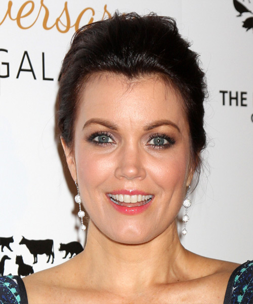 Bellamy Young Casual Straight Updo Hairstyle - Dark Brunette