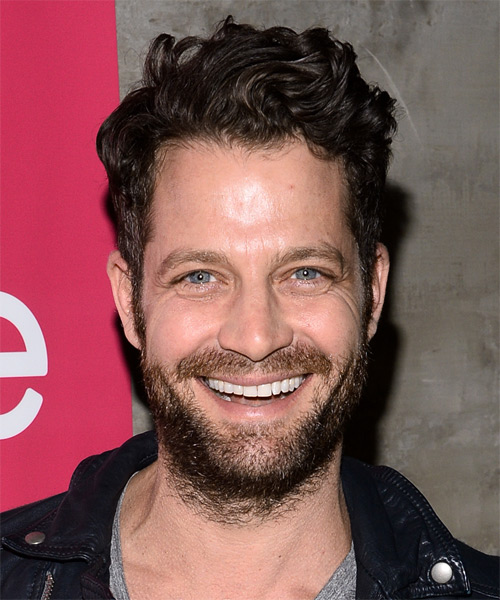 Nate Berkus Short Wavy Hairstyle - Dark Brunette