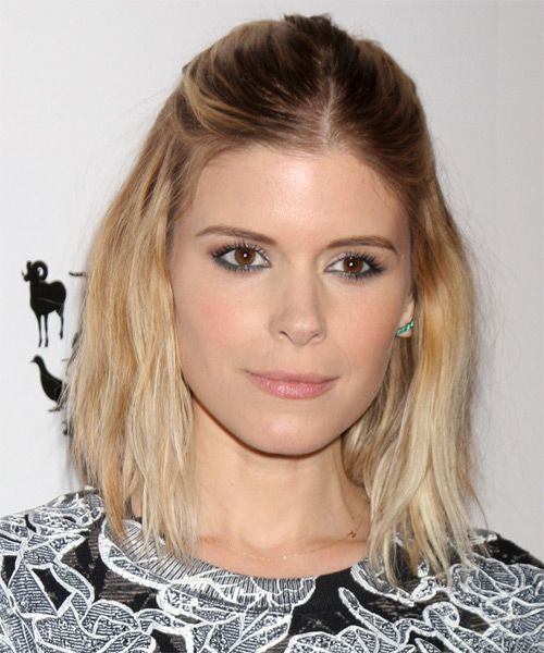 Kate Mara Medium Straight Hairstyle - Medium Blonde