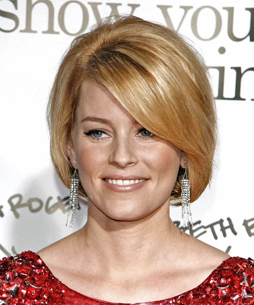 Elizabeth Banks Medium Straight Hairstyle