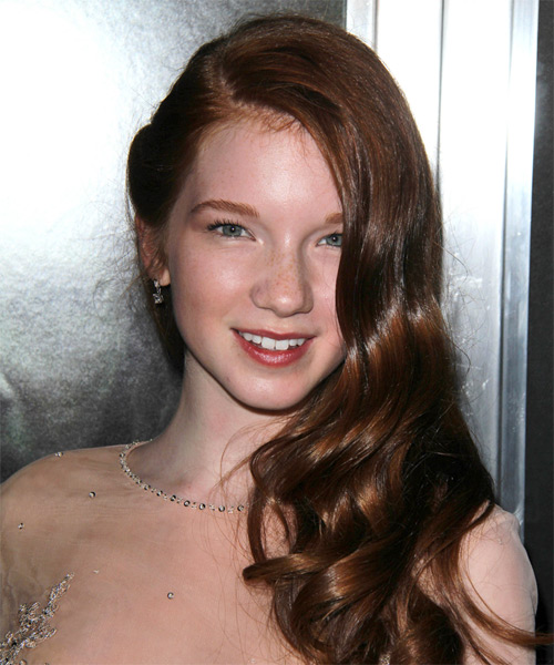 Annalise Basso Long Wavy Formal Hairstyle Brunette Hair