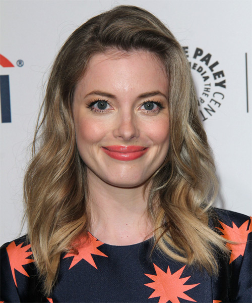 Gillian Jacobs Long Wavy Hairstyle - Light Brunette (Ash)