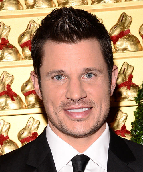 Nick Lachey Short Straight Formal  - Dark Brunette