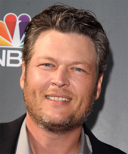 Blake Shelton Short Wavy Formal Hairstyle - Medium Brunette (Ash) Hair Color