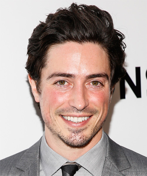 Ben Feldman Short Wavy Casual Hairstyle - Dark Brunette (Mocha) Hair Color