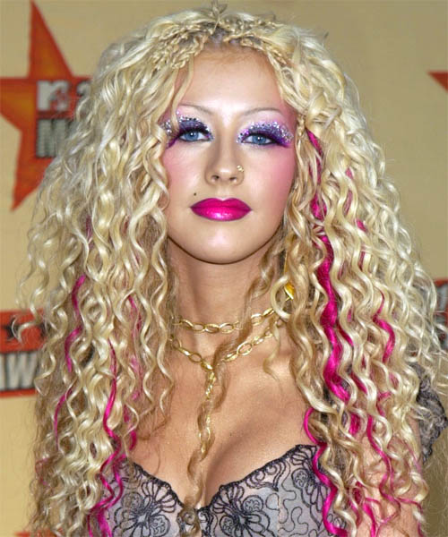 Christina Aguilera - Alternative Long Curly Hairstyle