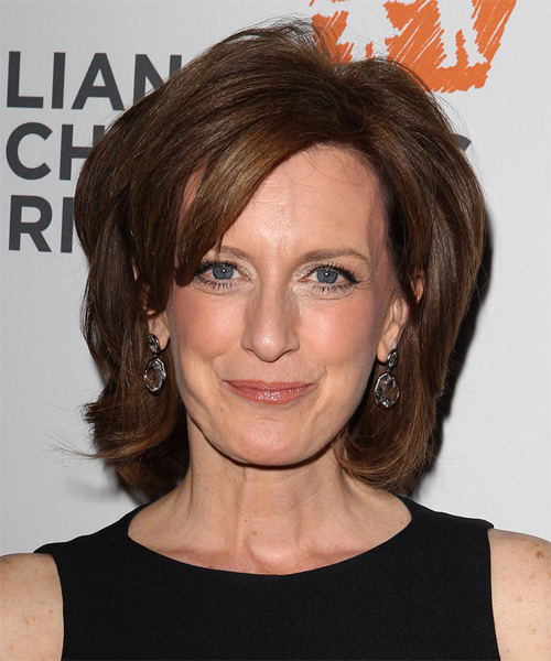 Anne Sweeney Medium Straight Formal Hairstyle - Medium Brunette Hair Color