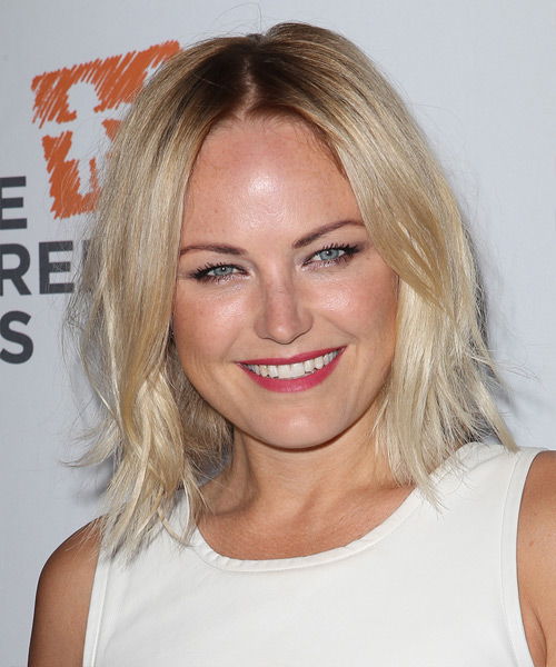 Malin Akerman Medium Straight Hairstyle - Light Blonde