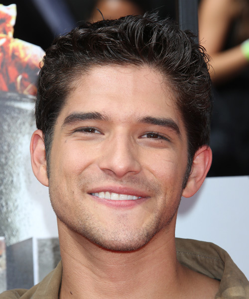 Tyler Posey Short Straight Hairstyle - Dark Brunette (Mocha)