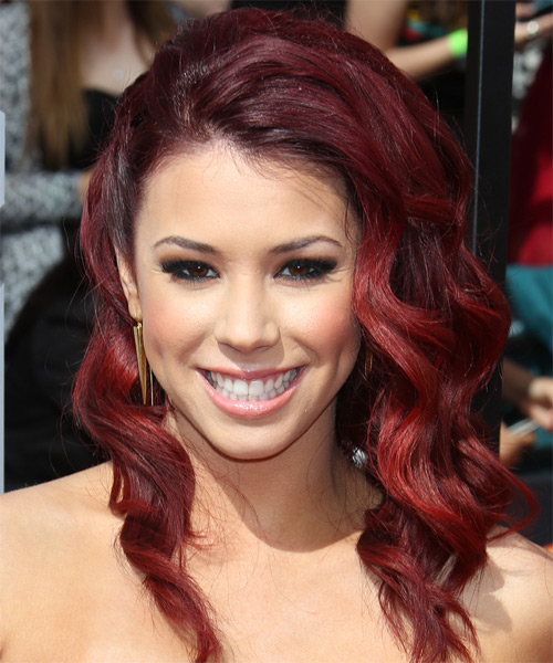 Jillian Rose Reed Half Up Long Curly Formal