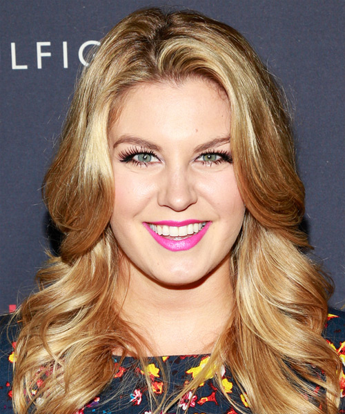 Mallory Hagan Long Straight Casual Hairstyle - Medium Blonde (Golden) Hair Color