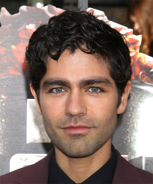 Adrian Grenier Short Wavy Formal Hairstyle - Black Hair Color