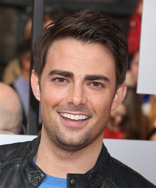 Jonathan Bennett Short Straight Hairstyle - Medium Brunette (Chocolate)