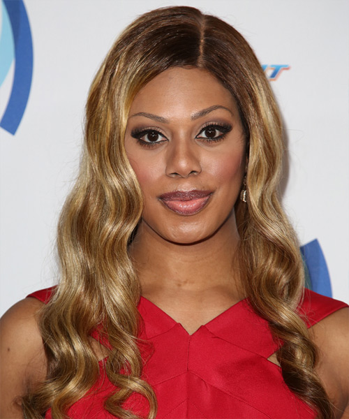 Laverne Cox Long Wavy Hairstyle - Dark Blonde
