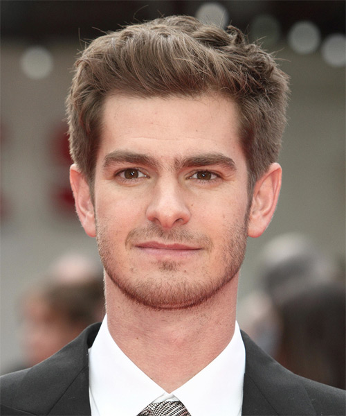 Andrew Garfield Short Straight Formal Hairstyle - Light Brunette Hair Color