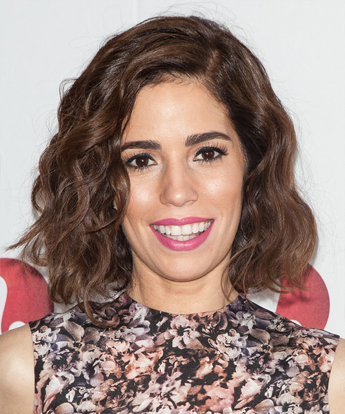 Ana Ortiz Medium Wavy Hairstyle - Medium Brunette (Chocolate)