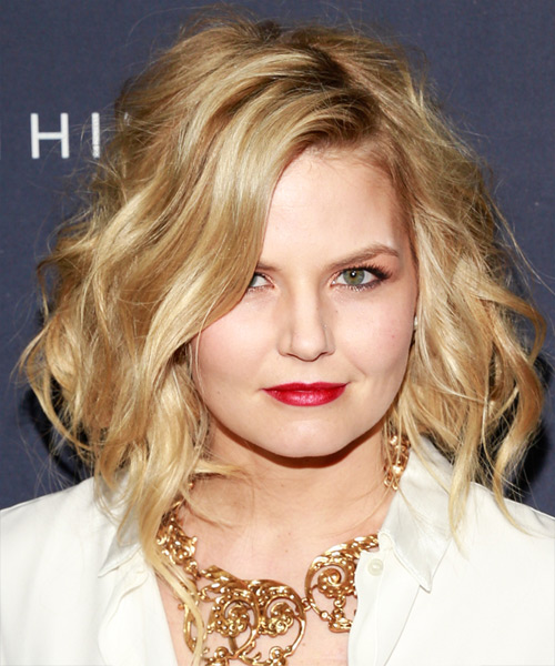 Jennifer Morrison Medium Wavy Hairstyle - Medium Blonde (Golden)