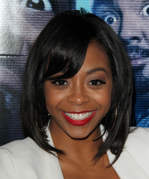 Bresha Webb Medium Straight Bob Hairstyle - Black