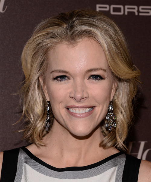 Megyn Kelly Medium Straight Hairstyle - Medium Blonde (Champagne)