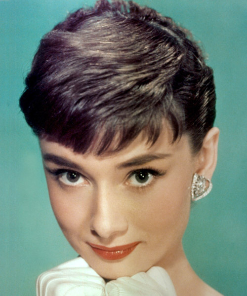 Audrey Hepburn - Formal Short Straight Hairstyle
