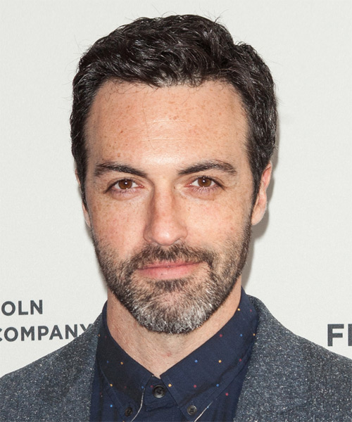 Reid Scott Short Wavy Formal Hairstyle - Dark Grey Hair Color