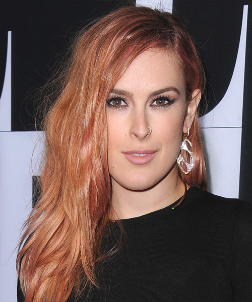 Rumer Willis Long Straight Casual Hairstyle - Medium Red (Copper) Hair Color