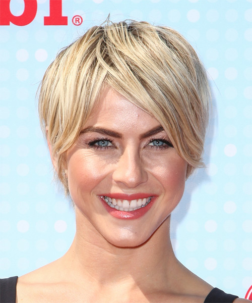 Julianne Hough Short Straight Hairstyle - Light Blonde
