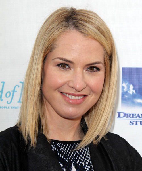 Leslie Grossman Medium Straight Hairstyle - Light Blonde