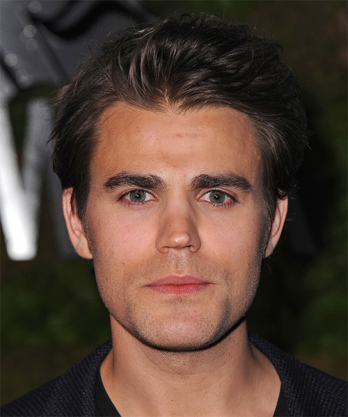 Paul Wesley Short Straight Casual Hairstyle - Dark Brunette Hair Color
