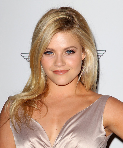 Witney Carson Long Straight Formal Hairstyle - Medium Blonde (Honey) Hair Color